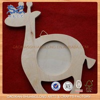 new wooden horse-shape picture frame