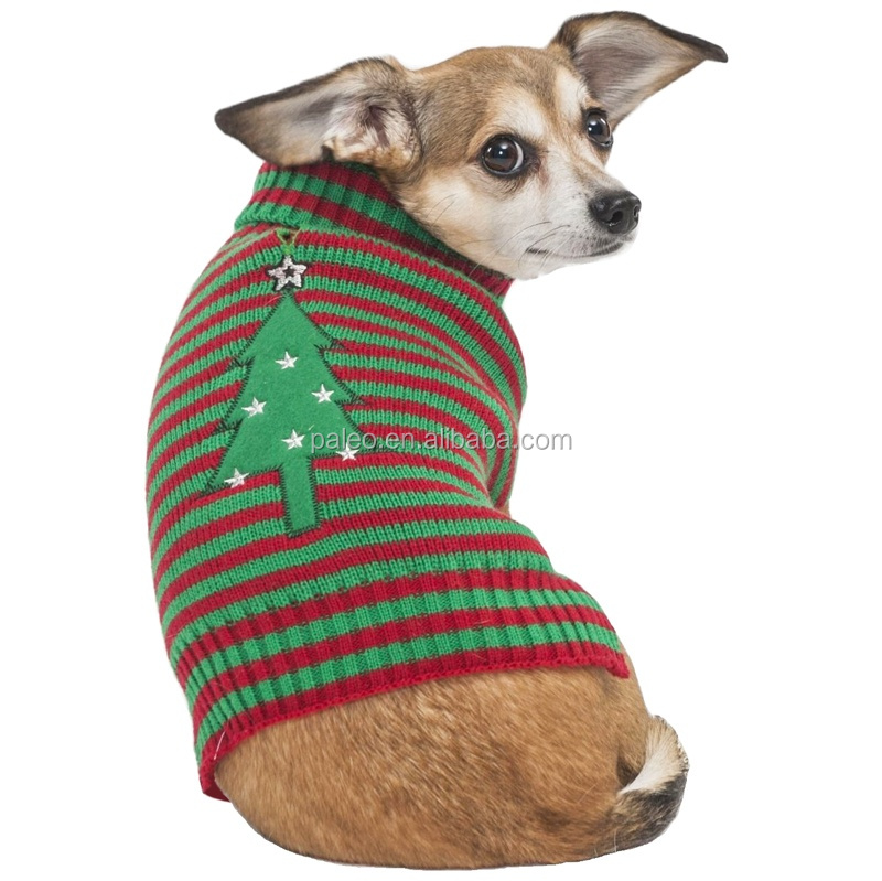 fashion chinese cotton knitted christmas dogs Sweater clothing