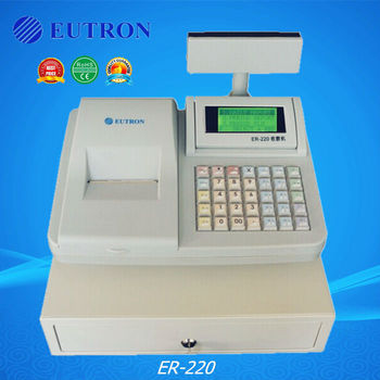retail store electronic cash register with cash drawer