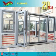 Hot sale low prices plant designed low-E glass veranda folding doors