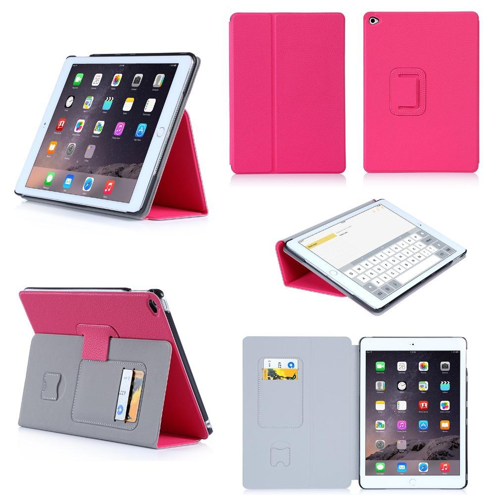 2016 Wholesale Foldable Tablet Case High Quality Flip Tablet Cases With Card Holders For iPad Air 2