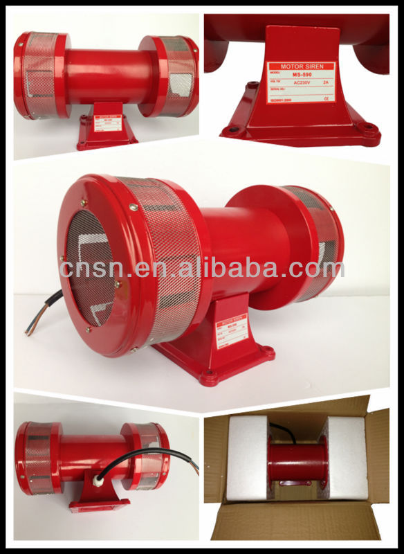 MS-590 Double electric motor siren alarm siren 150db