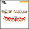 Custom slap Emoji Bracelet 10 Beads 18k Gold Plated jewelry Emoji charm Bracelet for women