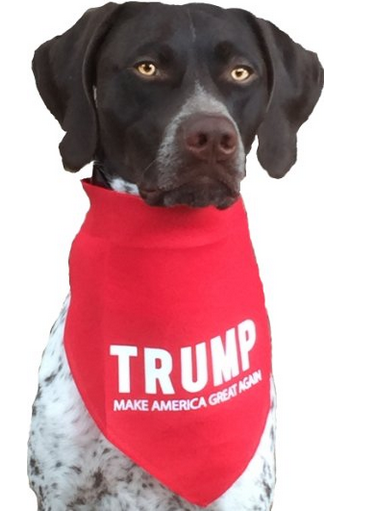 Custom trump logo print bandana for medium to large dogs