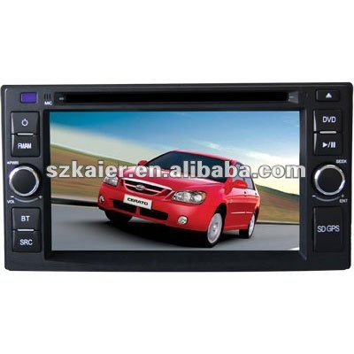 "6.2"" Car navigation and entertainment system for Kia Cerato with 8CD,BT,IPOD,TV and IPHONE menu"