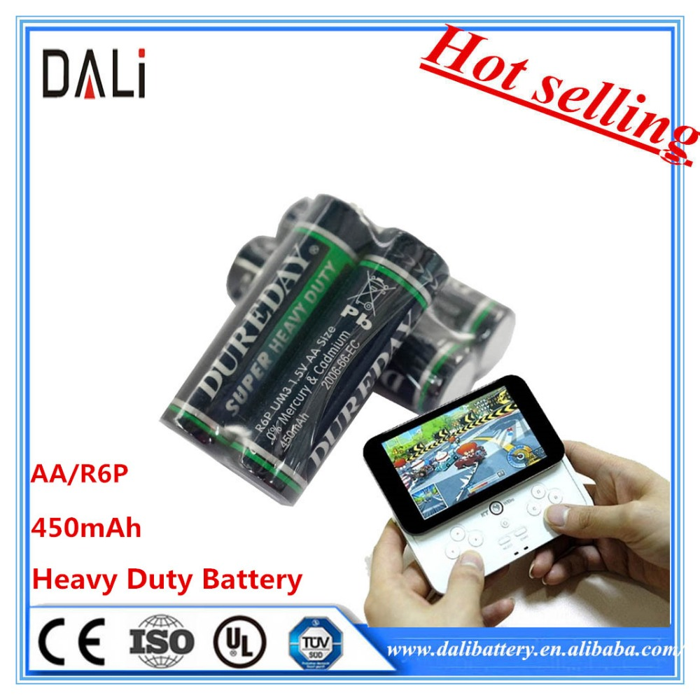 R6P 1.5v carbon zinc battery aa with dry cell battery export battery