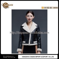 Turn-down Collar Sheepskin Leather Jacket