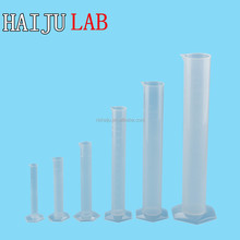 HAIJU LAB Factory Directly Laboratory Graduated Plastic Measuring Cylinder