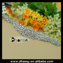 New fashion crystal rhinestone applique bridal sash wedding belt crystal beaded wedding belt DH-890