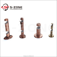 adjustable double round curtain rod bracket for hotel