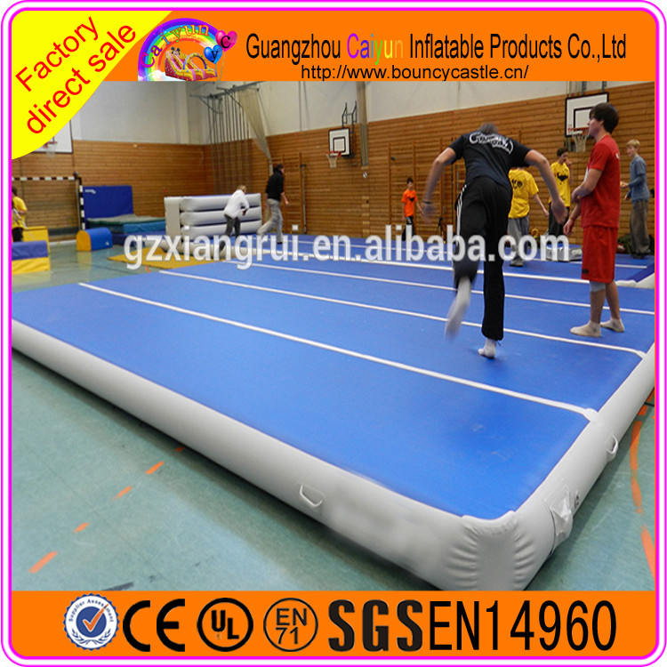 Exercise Used Protective landing mats inflatable air tumble track for gymnastics