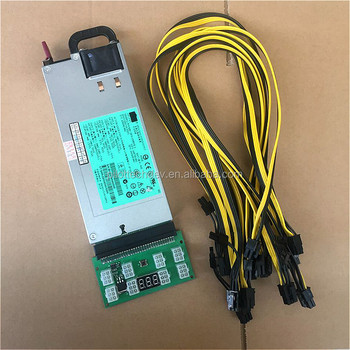 DPS-1200FB A 12v 1200W Mining power supply with 8pcs 6PIN to 6+2PIN cables and breakout board