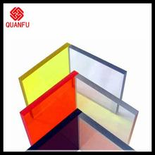 red polycarbonate solid sheet light weight 4mm green hollow sheet panels for building roofs