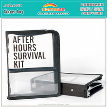 Customized Clear Plastic A5 Zipper Box File Case With Inner Pockets