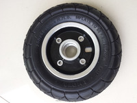 Supply custom 8inch small size small solid rubber tyre for toy cars