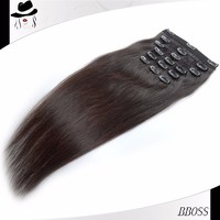Factory price 8 inch clip-in human hair extensions georgia in bangkok,factory perfect black lady 100 virgin remy hair