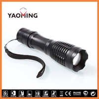 Aluminium 1000 Lumens Flashlight Tactical Led Torch YM-T6Q-1 with SOS Beam Mode