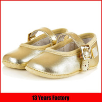 2016 metal leather moccasins mary jane dress dance spanish baby shoes for girls