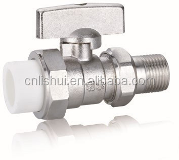 PP-R Connection Nickel Plated Brass Radiator Ball Valve
