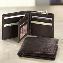 center card genuine cow leather men wallet
