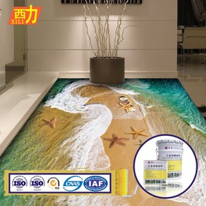 anti slip odorless liquid 3d epoxy floor paint