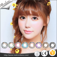 Yearly Disposable Cheap Eyewear Cosmetic Christmas Twinkle Crazy Contact Lenses