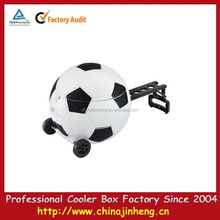 20L new design football looking plastic cooler box with wheels