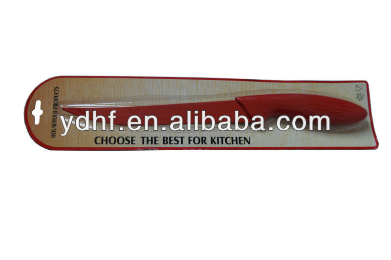 K771/B red color knife,knife with long and pointed blade,red color kitchen knife
