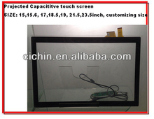 "15"", 15.6"", 17"", 18.5"", 19"", 21.5"", 23.6"" projected capacitive touch screen panel for monitors"