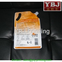 YBJ guangzhou spout pouc,stand up pouch/drink pouch with spout packaging qith low MOQ