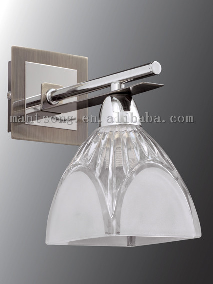 modern home decor crystal glass wall sconce with power outlet wall lamp