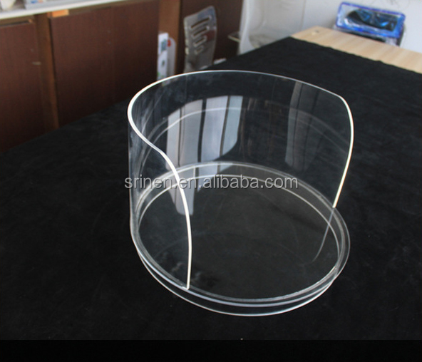 Custom Demission Round Acrylic Pet Bed For Dog