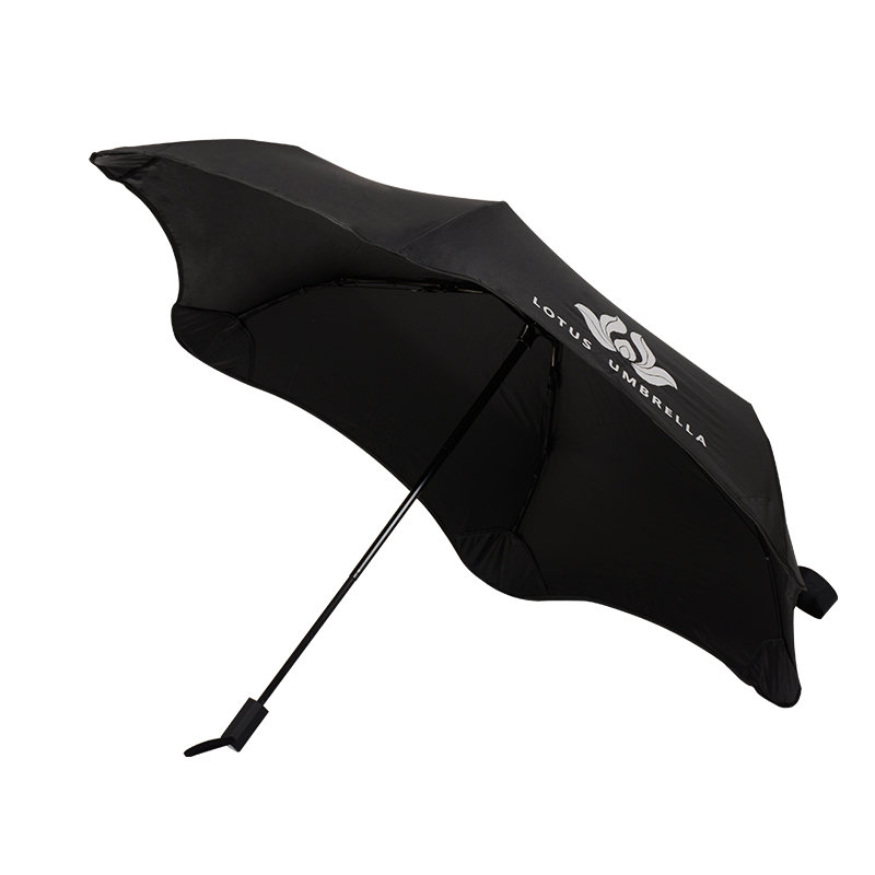 Hot sale standard size easy carrying 3 foldable travel blunt umbrella