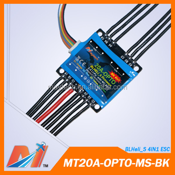 Maytech 20A 20a esc oneshot BLheli_S 4in1 firmware for drone brushless