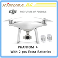 Original DJI Phantom 4 with 2 pcs extra batteries 4k camera rc professional quadcopter