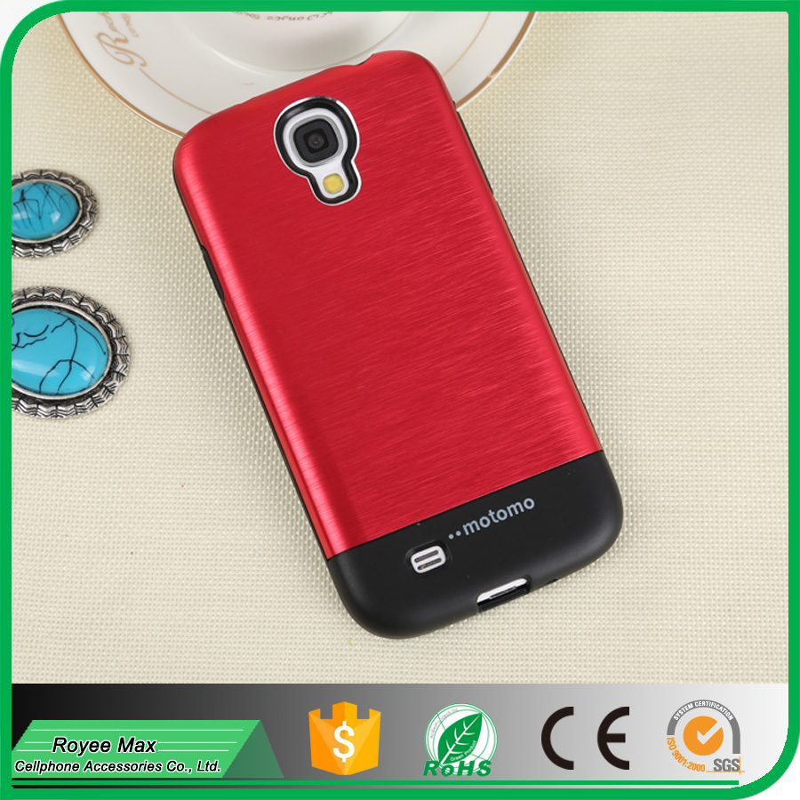 wholesale supplier new mobile phone ultra slim motomo armor case for samsung galaxy S4 i9500 cover