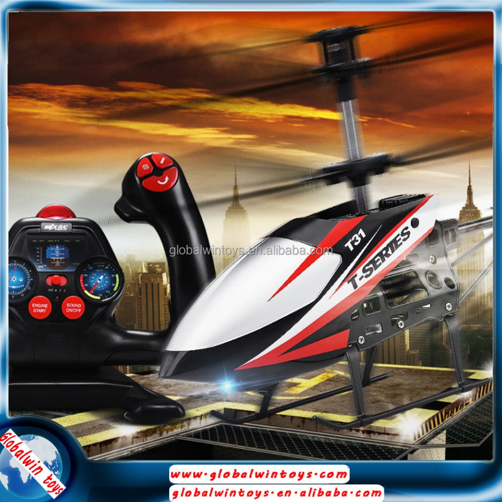 T31 space shuttle 3 channels rc helicopter simulator with twin coaxial rotors RTF mini gyro copter 3D flight USB charging system