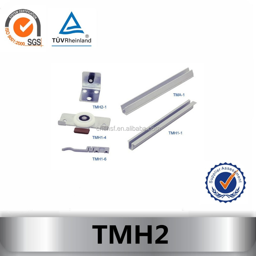 TMH2 Bottom Running sliding closet door rollers and track