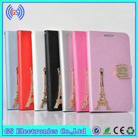 Luxury Bling Eiffel Tower Leather Case For HTC desire 816,Factory Wholesale