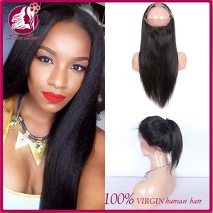 Brazlian Virgin Human Hair 360 Lace Band Frontal Closures Straight Ear To Ear Lace Frontal Closures With Baby Hair Lace Frontals