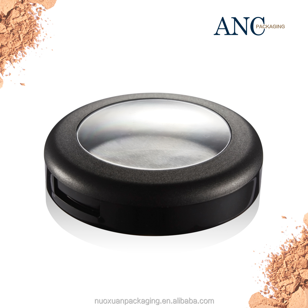 ANC high quality private label wholesale <strong>plastic</strong> fashion compact powder <strong>case</strong> with mirror