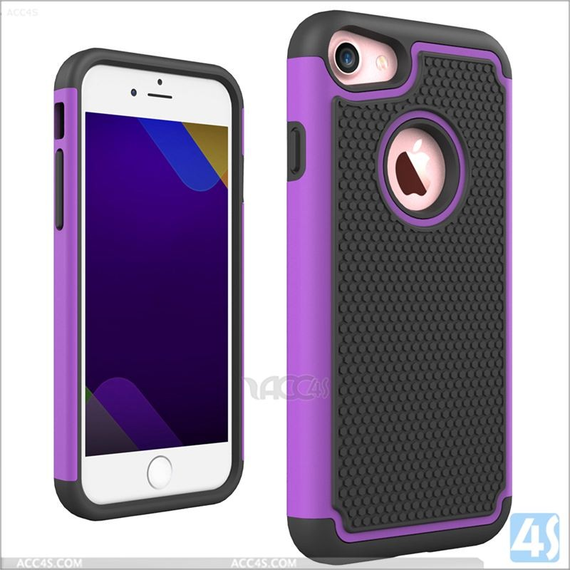 Football Textures PC Silicone Rugged Hybrid Shockproof Case For iPhone 7