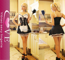 Sexy French Maid Fancy Dress Fun Christmas Party Sexy Costume