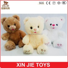 good quality cute sitting teddy bear plush toy