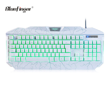 Factory Advanced white LED backlit USB Wired game keyboard