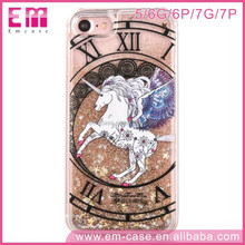 Charming Unicorn Liquid Quicksand Skin Constellation Horses PC Cell Phone Case For iPhone5 6 6+ 7 7p