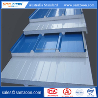 Corrugated roof board insulated EPS roof sandwich panel metal faced