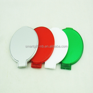 cheapst round mini compact promotion pocket mirror one way side folding pocket mirror with logo