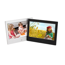 7 inch LED metal digital photo frame rechargeable battery