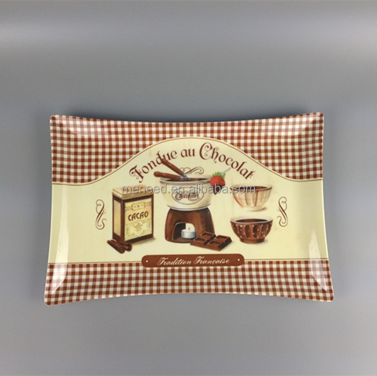 "15"" melamine chocolate serving trays, large serving platters"